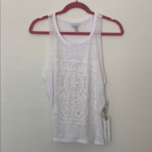 NEW WITH TAGS! Cute O'Neill white surfer tank top